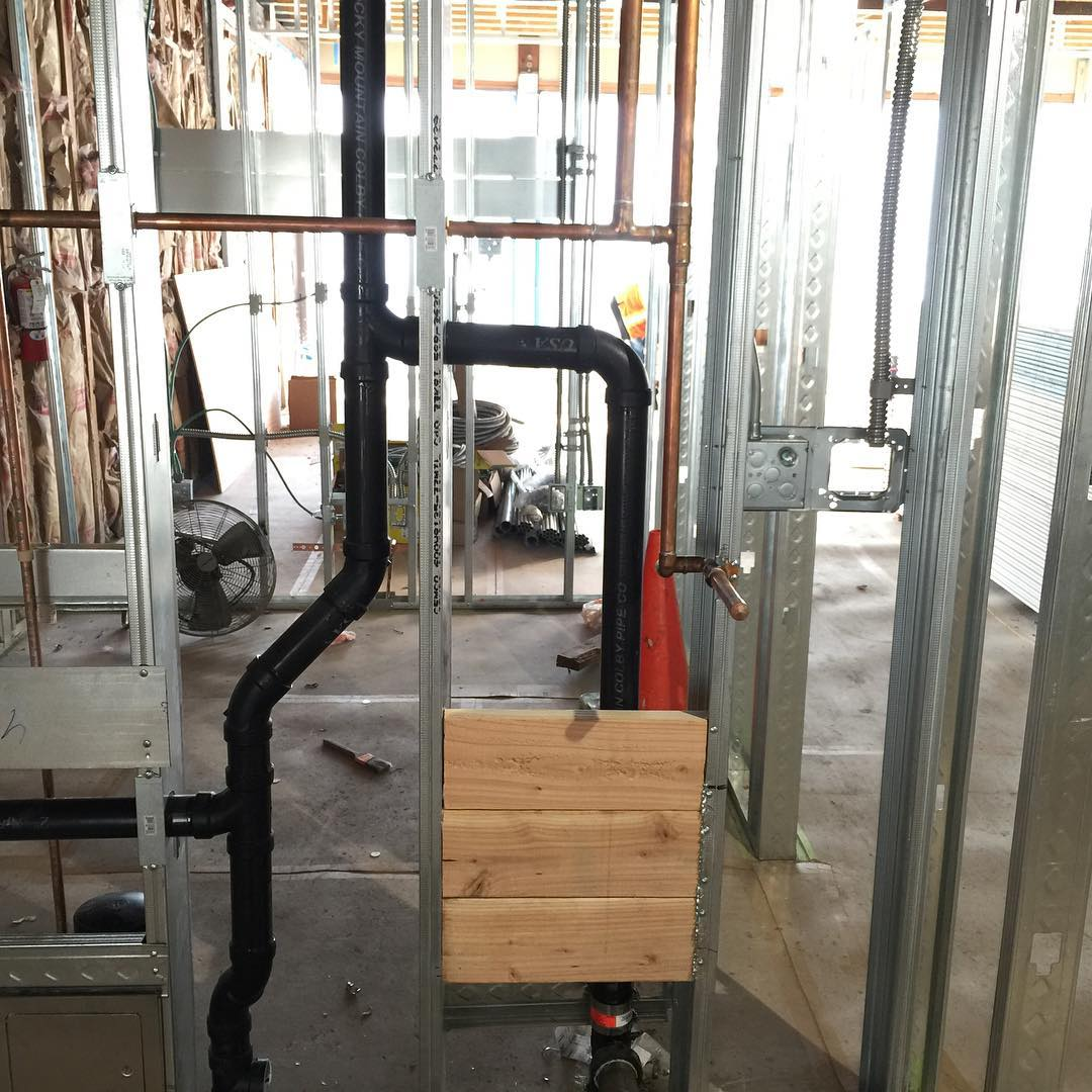Rough plumbing for a tenant improvement on a dental officehellip