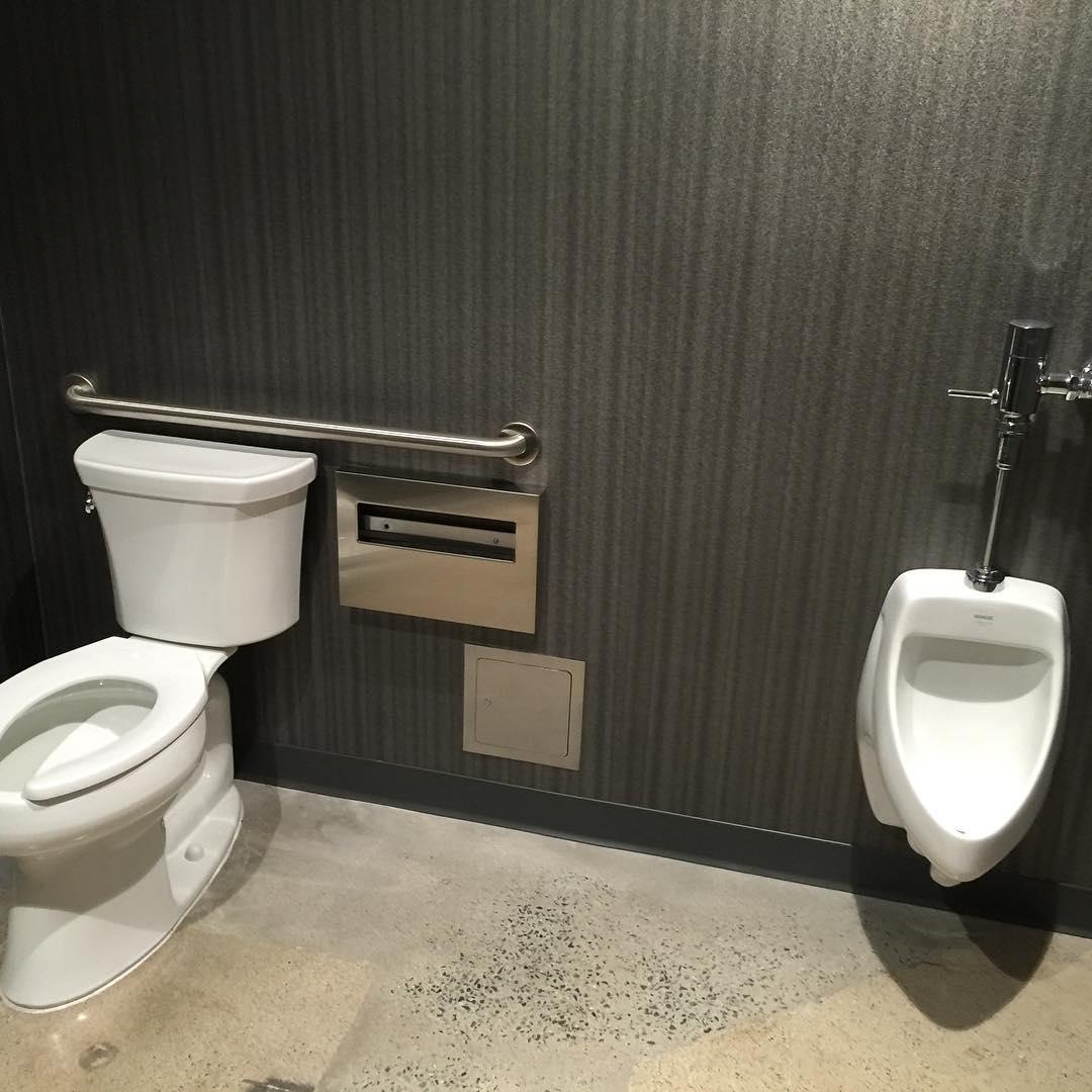 dentaloffice tenantimprovement kohler plumbing spahrplumbing mensroom bathroom urinal toilet sandiegohellip
